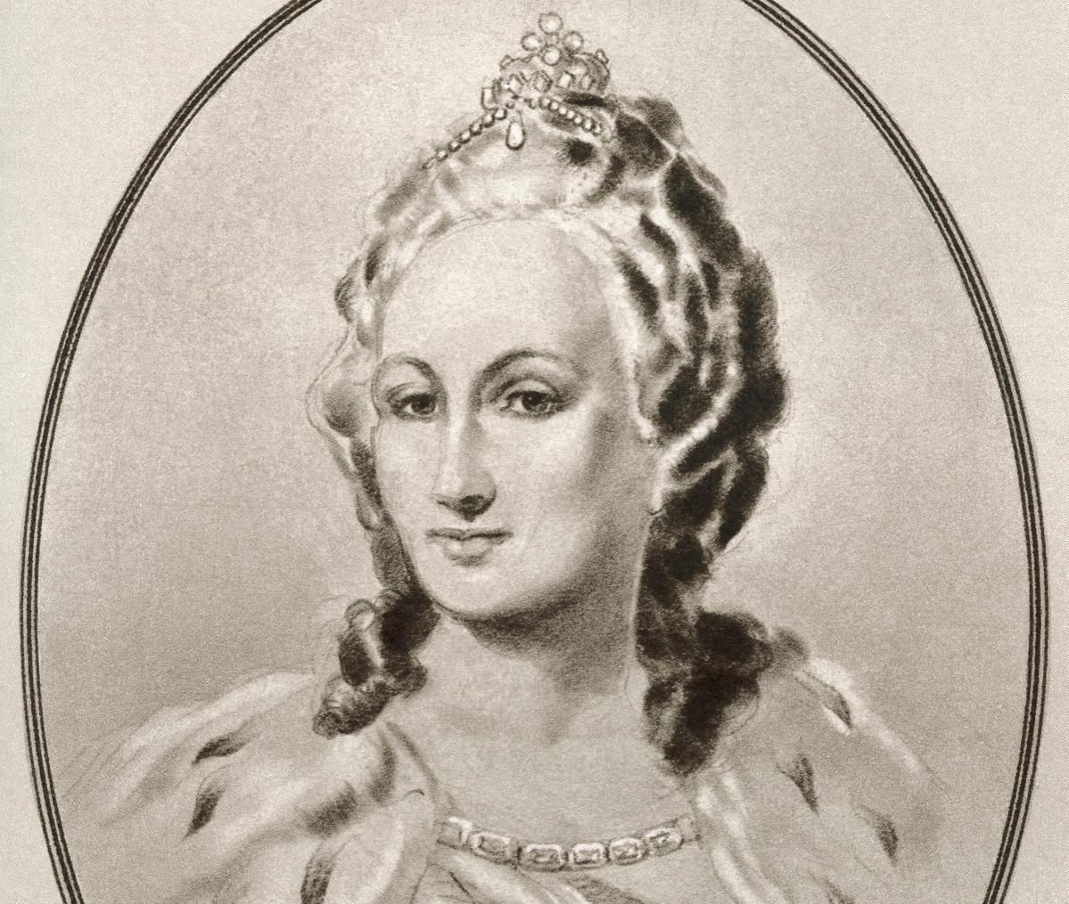 Catherine II, 1729 - 1796, aka Catherine the Great was born as Prussian Sophie von Anhalt-Zerbst