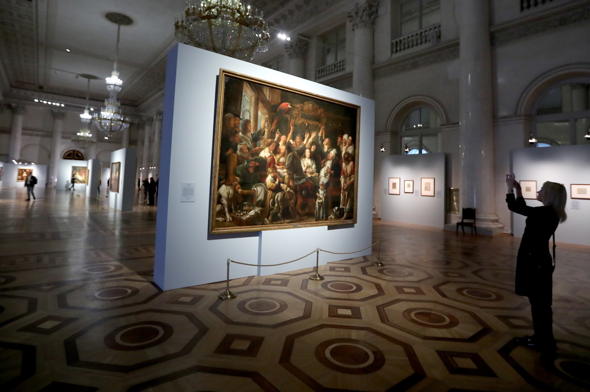Nicholas Hall of the State Hermitage Museum including many artworks acquired by Catherine the Great