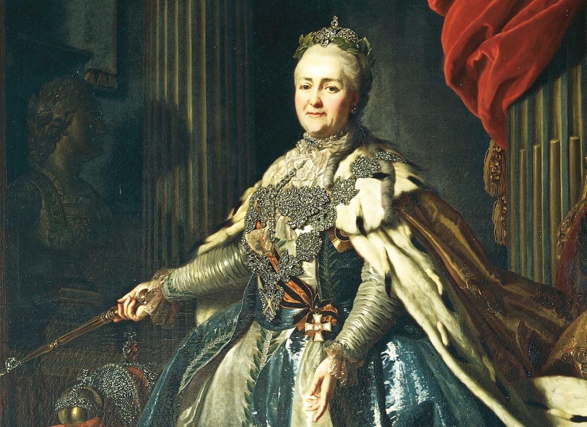 Portrait of Catherine II Empress consort of Peter III of Russia