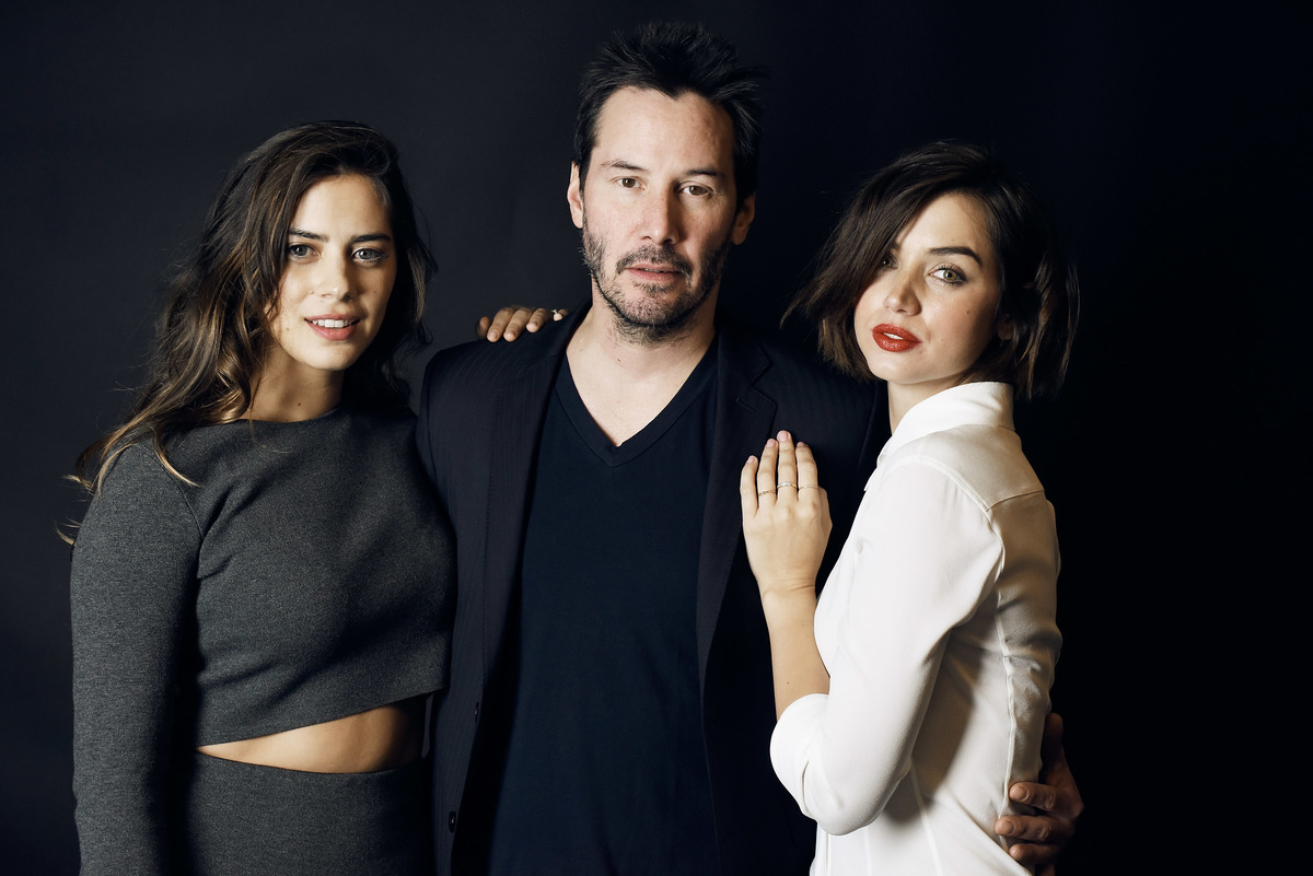 Keanu Reeves with Lorenza Izzo and Ana de Armas from
