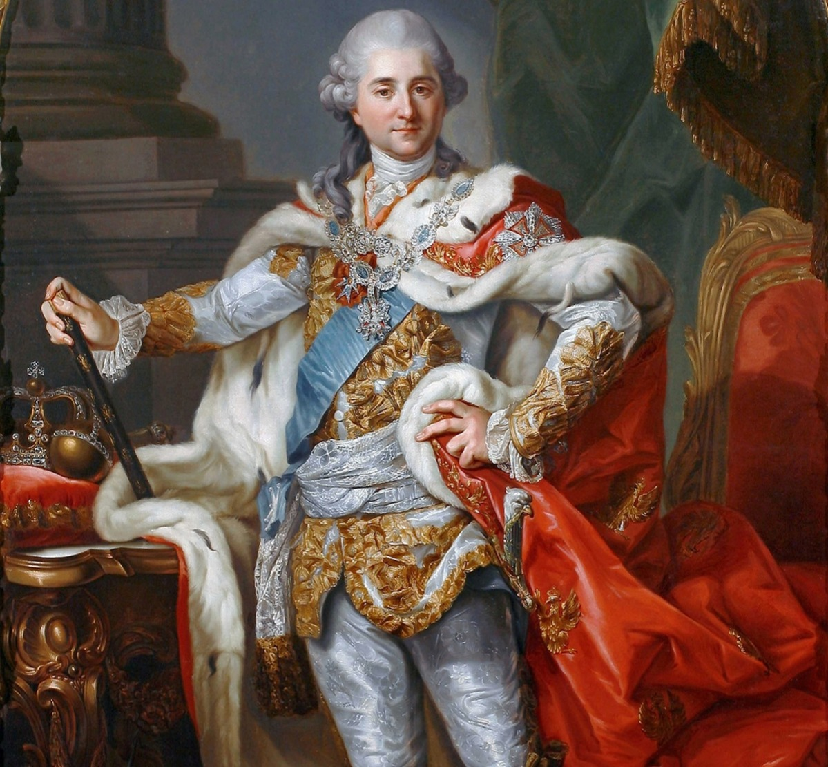 Stanislaw II August Poniatowski 1732 - 1798. King and Grand Duke of the Polish-Lithuanian Commonwealth (1764-95) painted by Marcello Bacciarelli