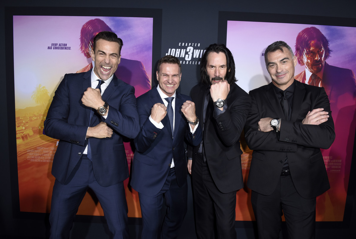 Keanu John Wick 3 with Chad Stahelski