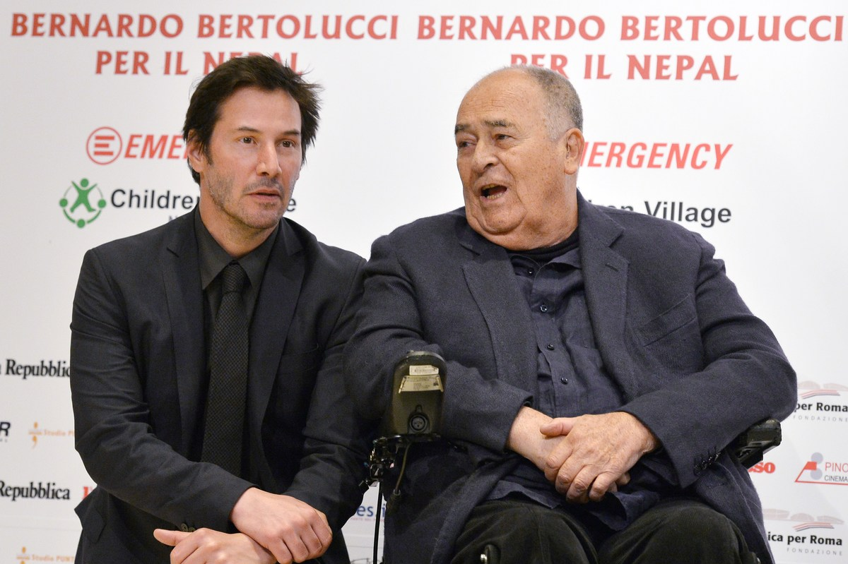 Keanu and Bernardo Bertolucci nepal charity event