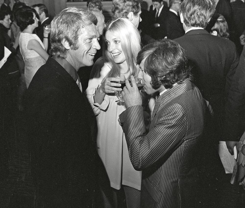 Steve McQueen, Sharon Tate and Roman Polanski Steve McQueen in London
