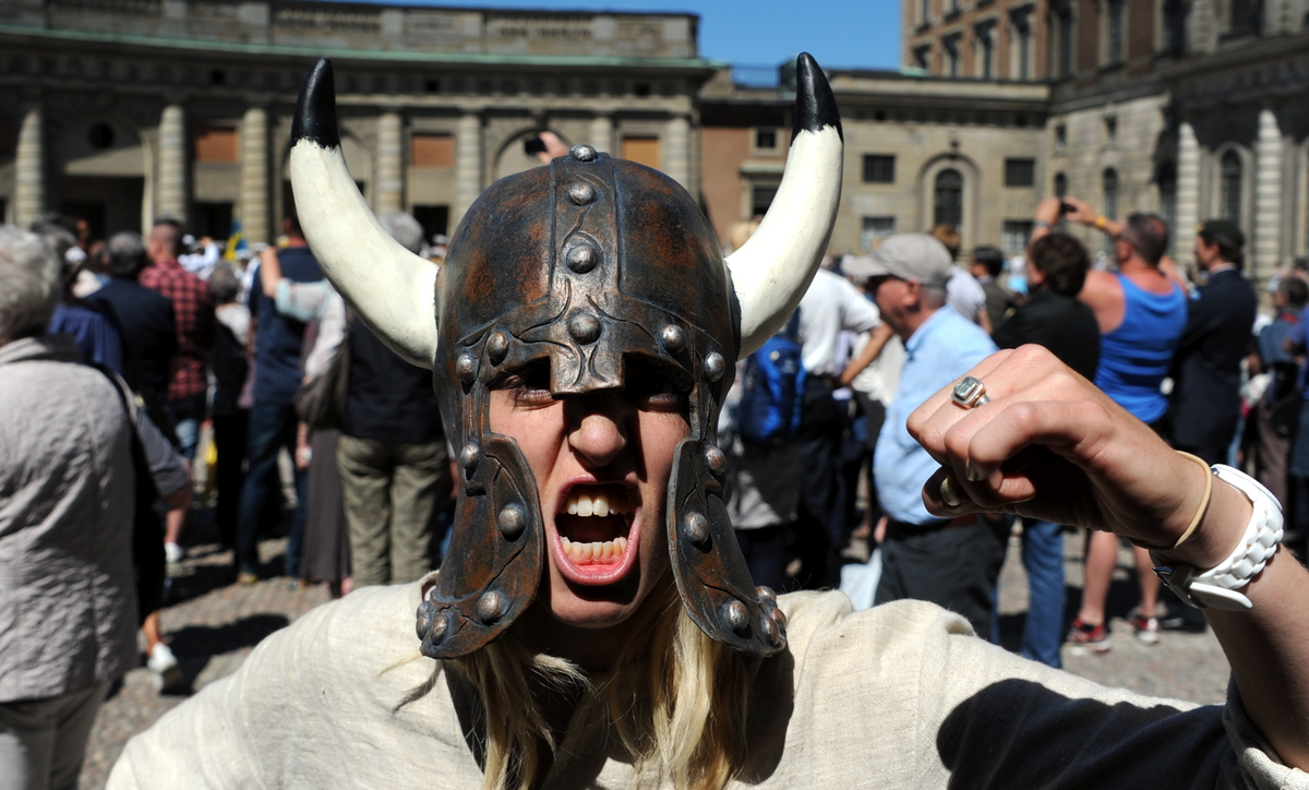 Viking Helmet with Horns - 1036492226