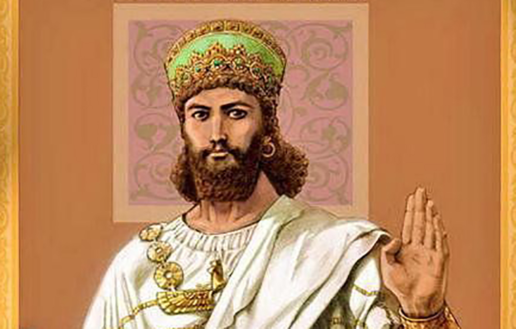 Painting of Cyrus the Great