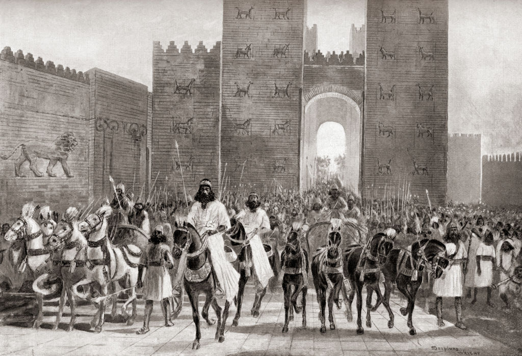 Cyrus the Great entering a city