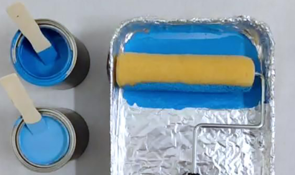 Aluminum foil used as a tray liner