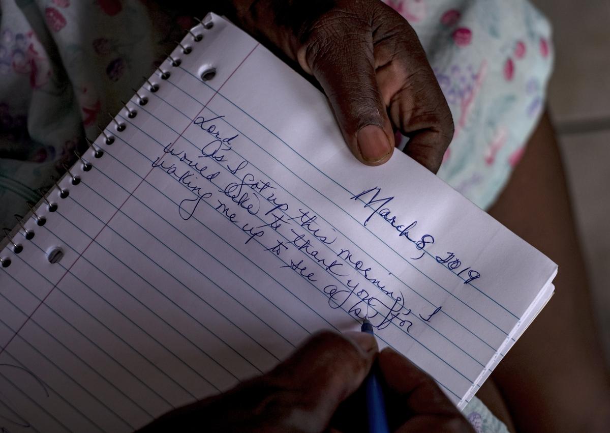 Sheila Freeman writes a note to God