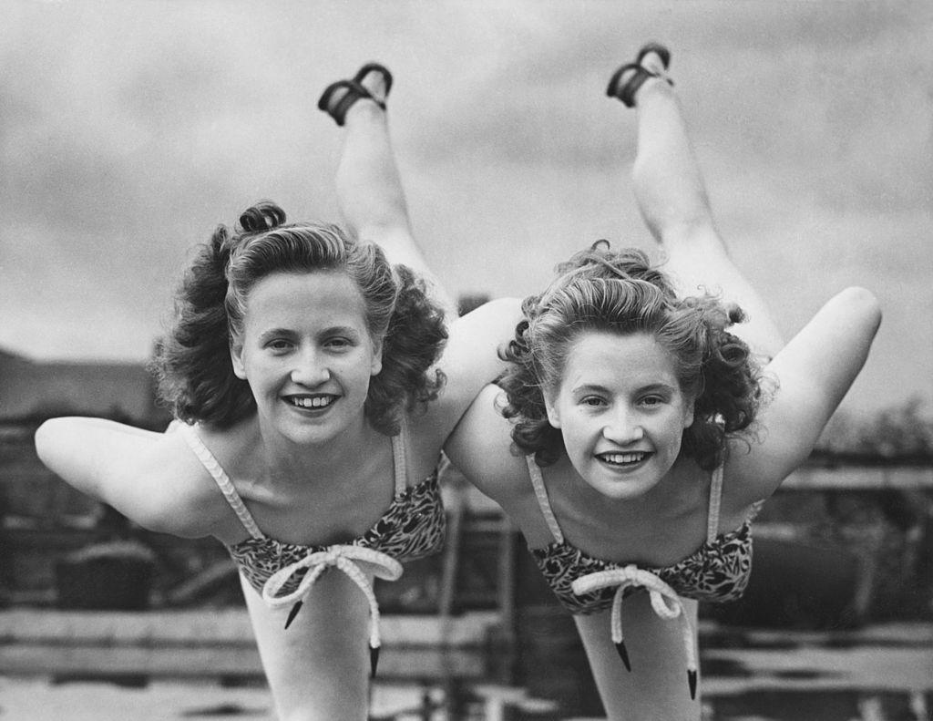 Two dancing twins