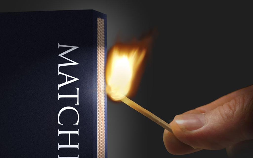 Striking a matchstick