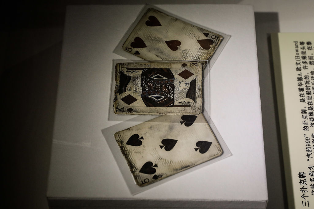 playing cards recovered from the Titanic disaster