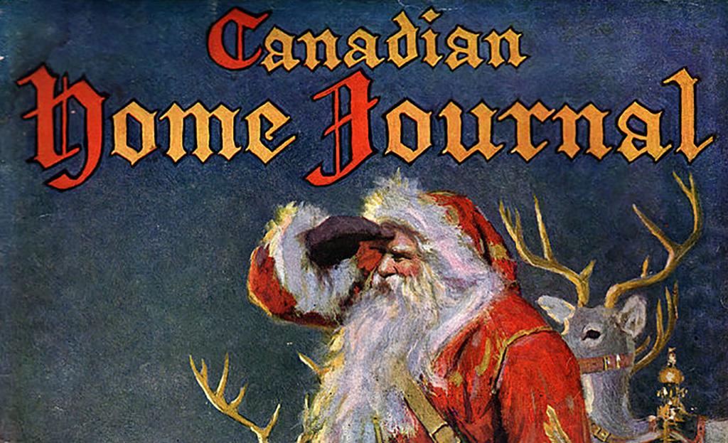 Santa Claus on magazine