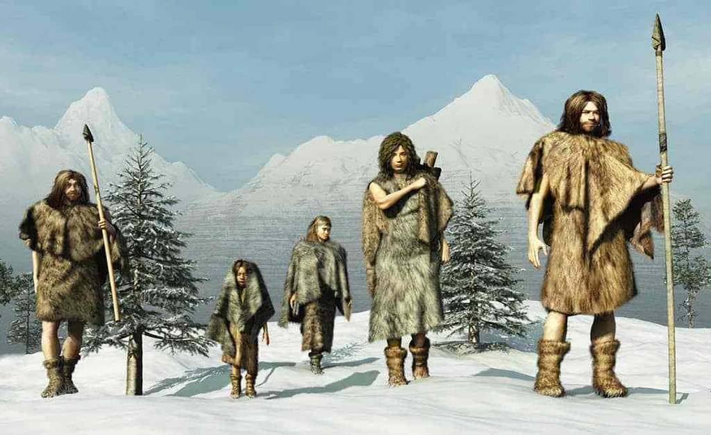 Early humans in furs