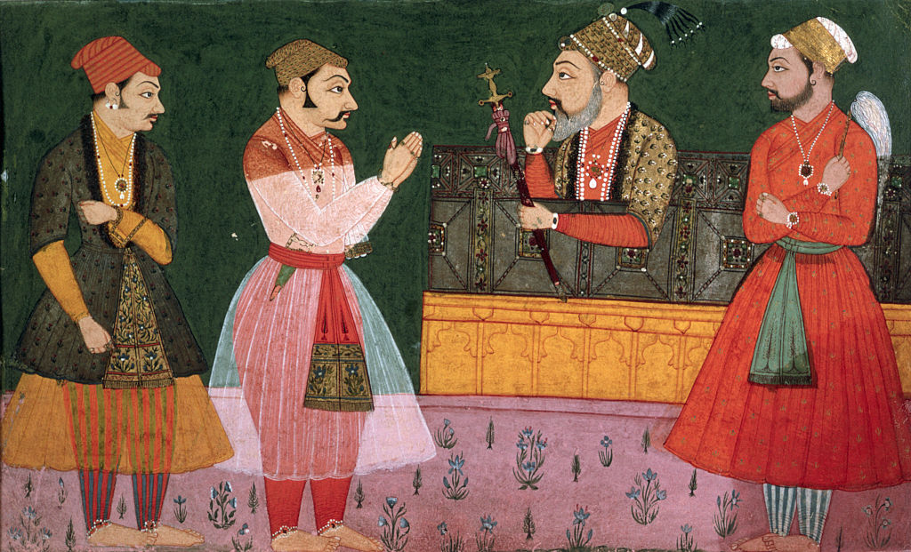 17th-Century Indian Painting of Imaginary Durbar of Shah Jahan