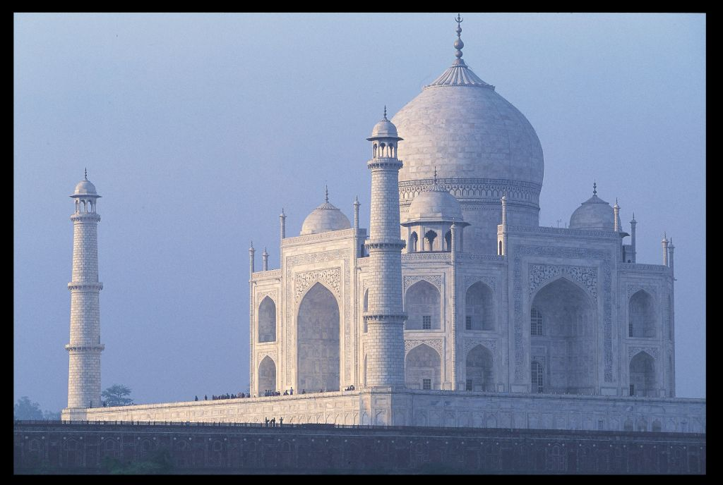 The Taj Mahal, tomb of Mumtaz Mahal.