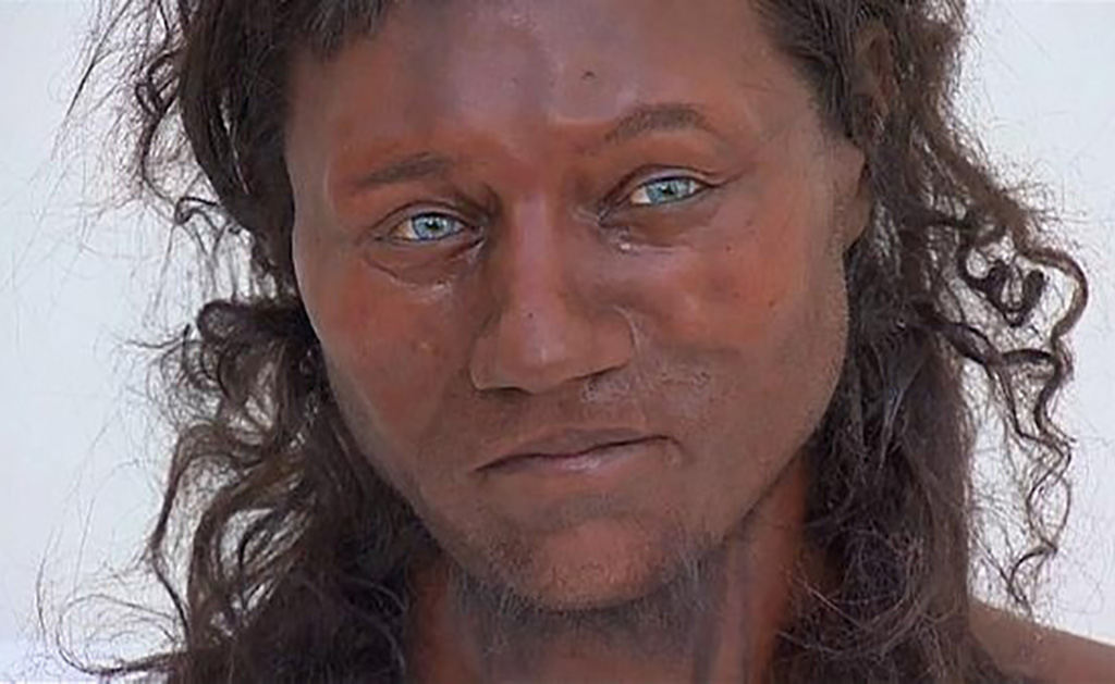 Early human with blue eyes