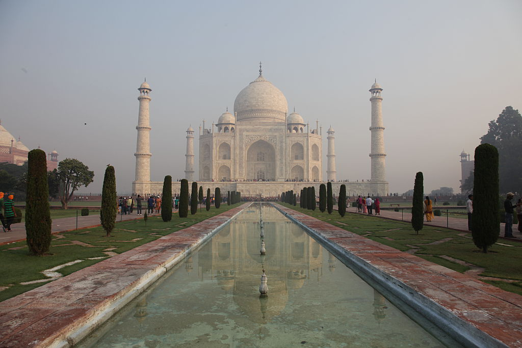 Taj Mahal, India's monument of eternal love is in Agra, India.