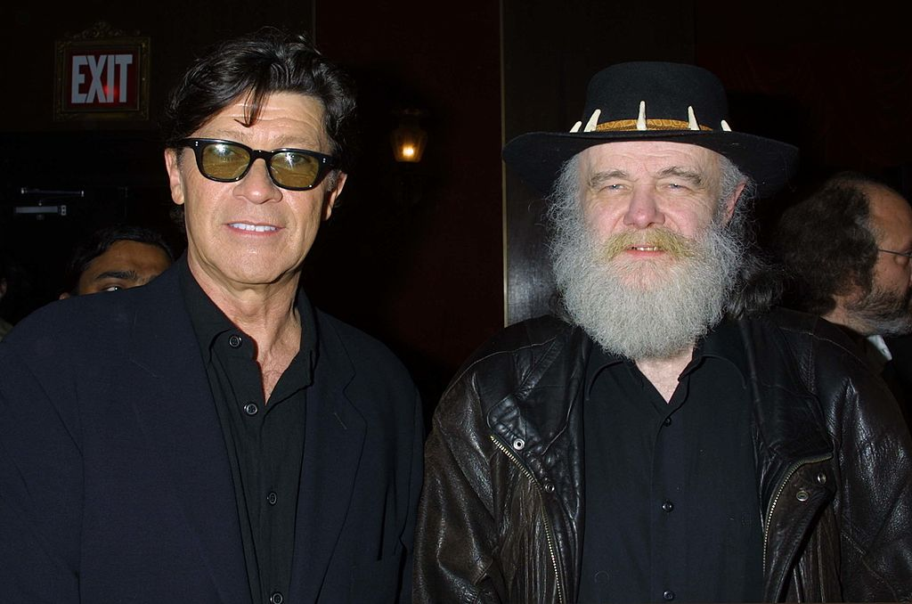 Robbie Robertson (left) and Garth Hudson of The Band