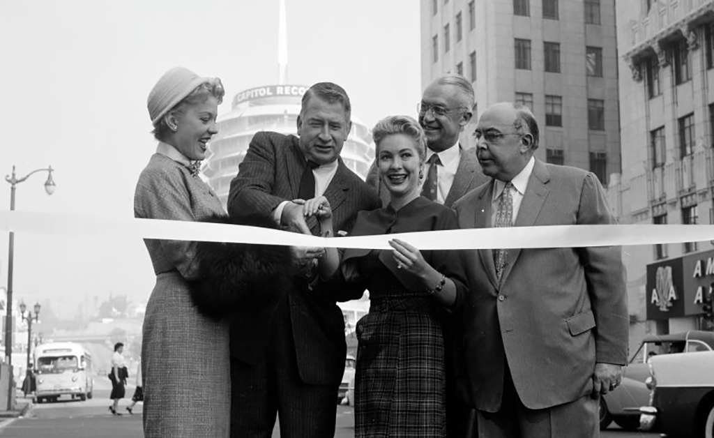 Cutting a ribbon