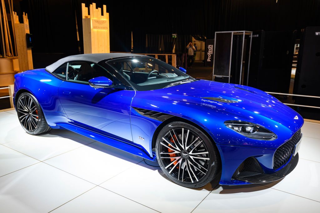 Blue Aston Martin