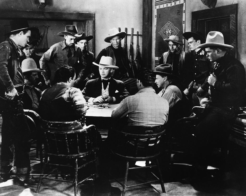 cowboys playing poker