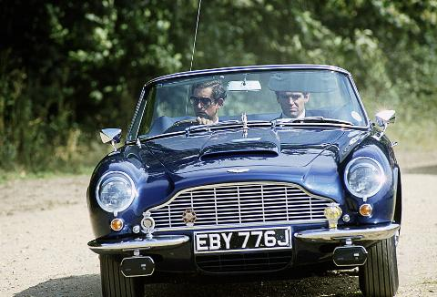 Prince Charles in Aston Martin
