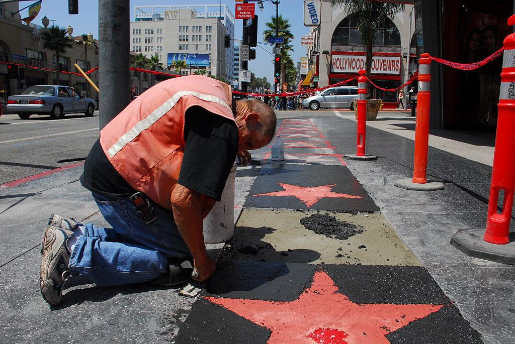 Man working on stars