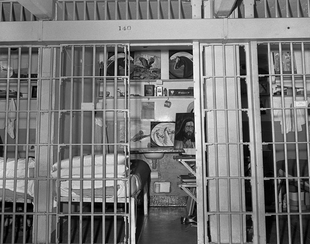 The cell pictured is like that of all the other prisoners on Alcatraz