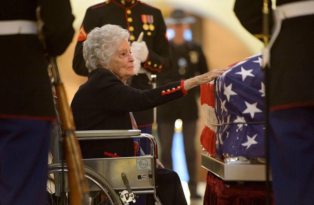 Annie Glenn at John's funeral