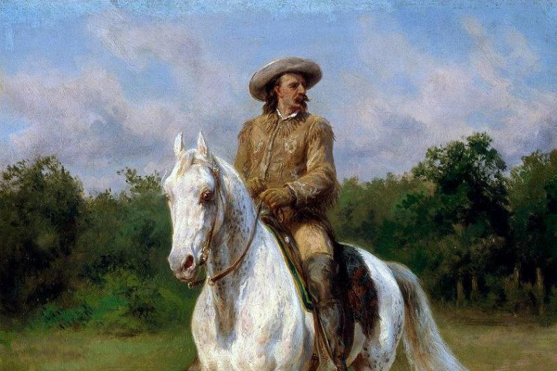 Buffalo Bill on horse