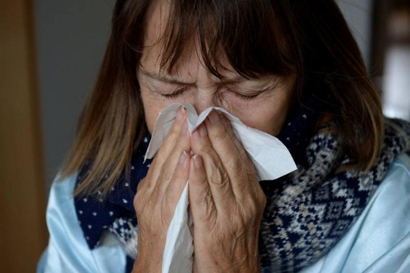 woman with a cold