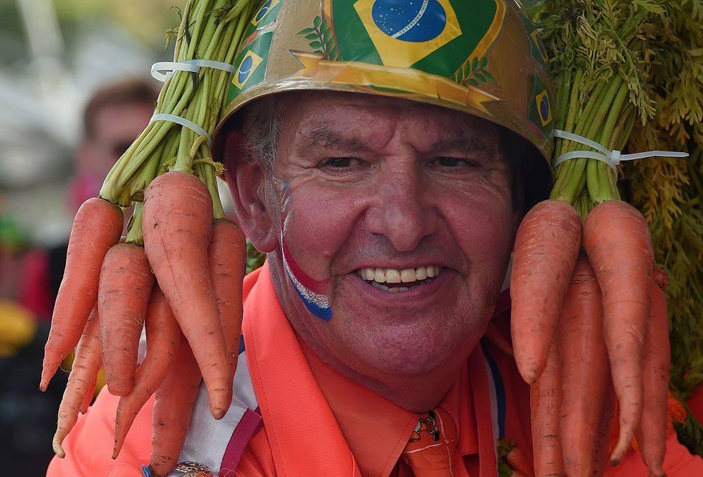 man wearing carrots
