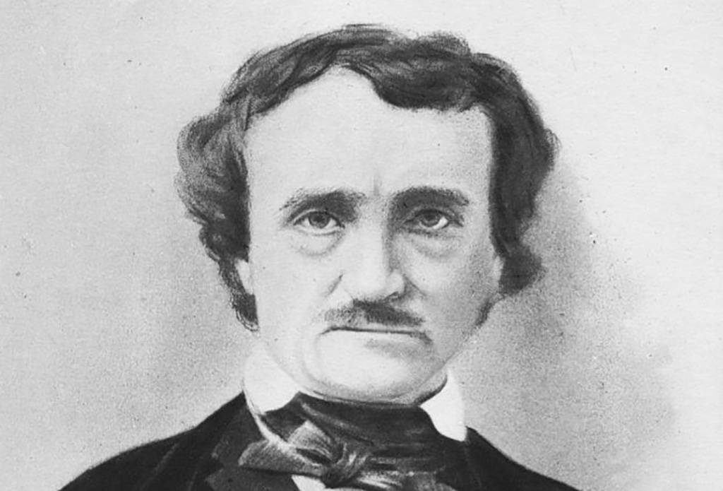 Engraving of Poe