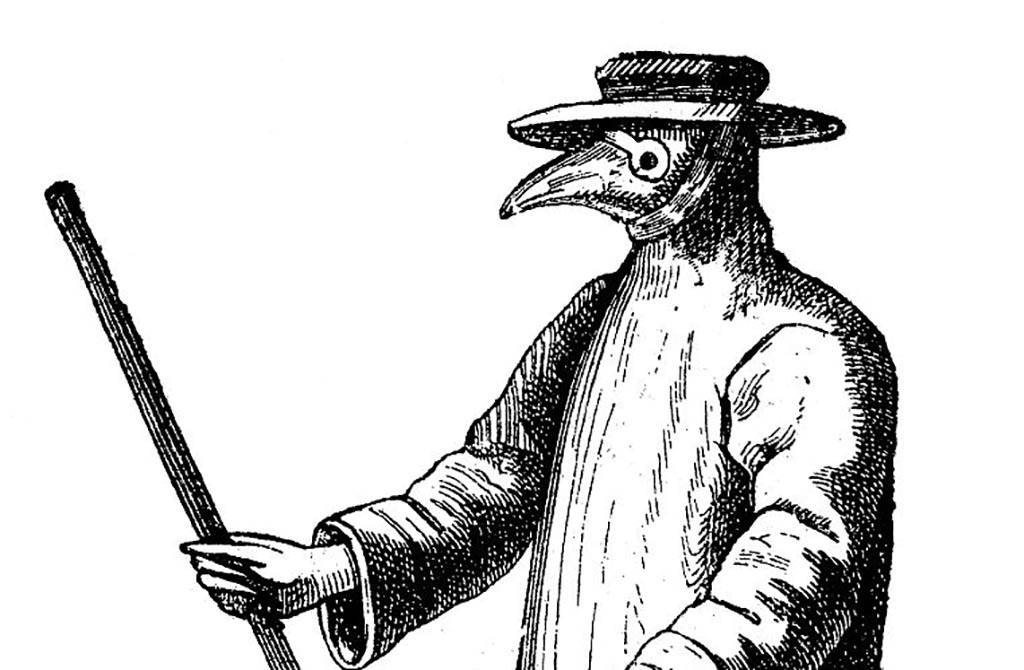 Picture of a plague doctor