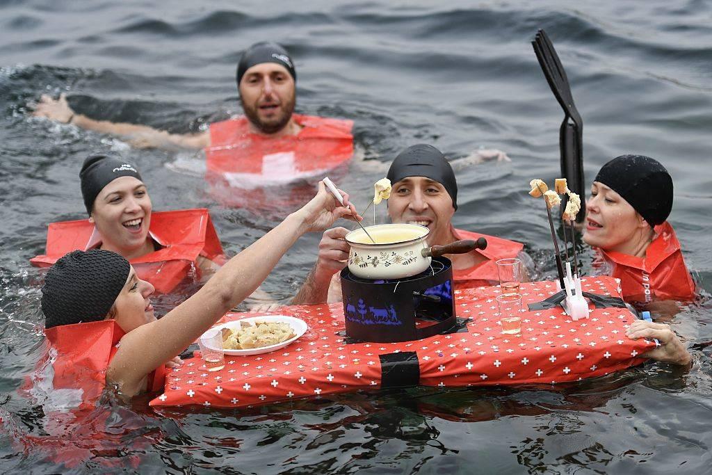 fondue in the ocean