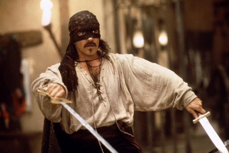 Antonio Banderas in a mask