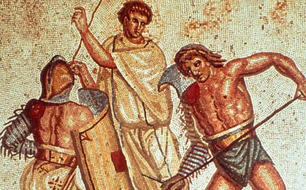Mosaic of gladiators