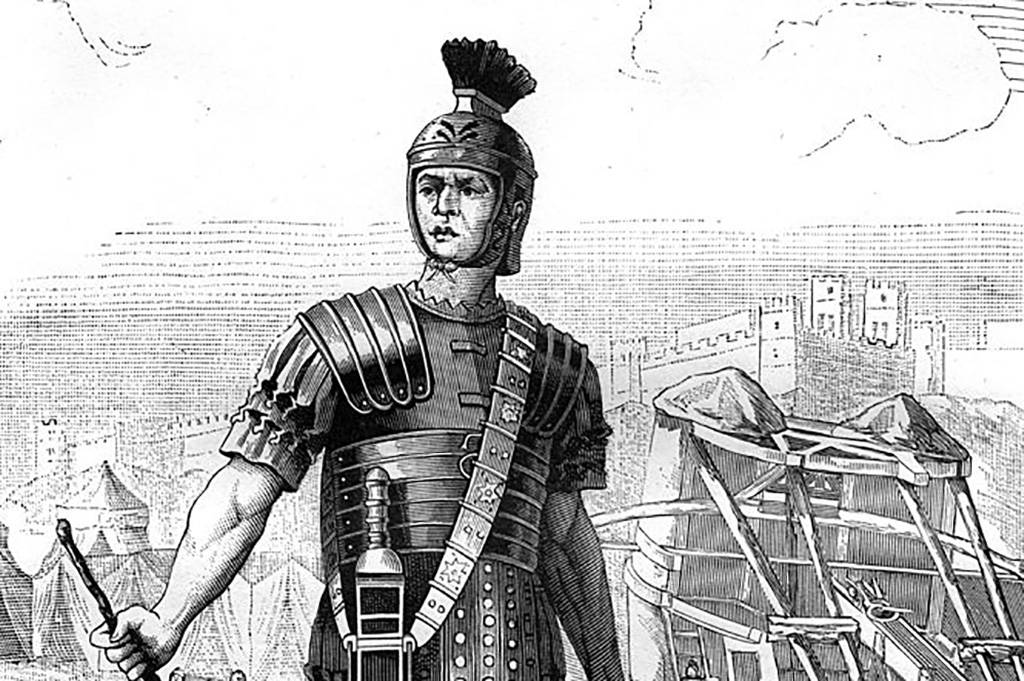 Drawing of Roman soldier