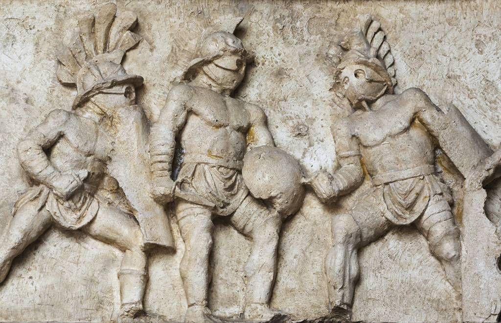 Relief of gladiators