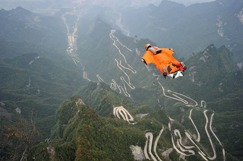 Man in a wingsuit