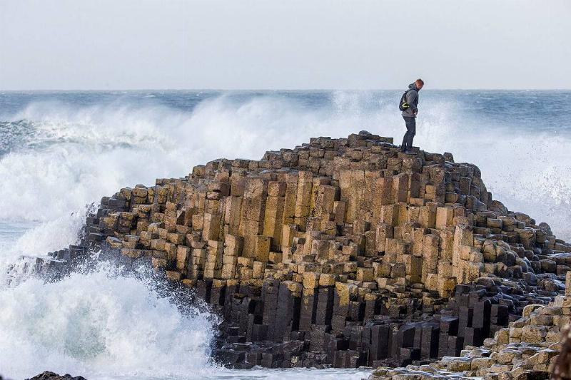 Man standing on rocks