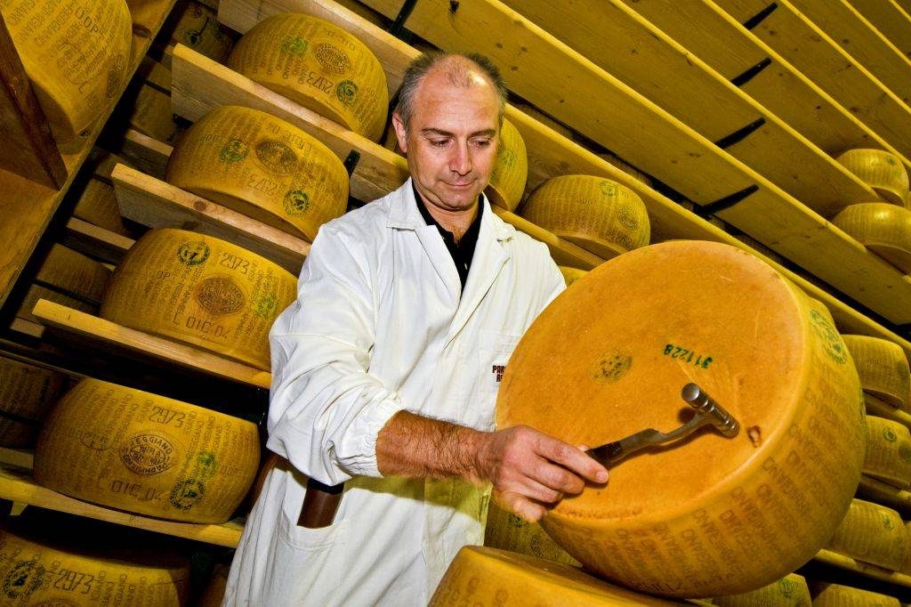 Seasoning Warehouse of Parmigiano-reggiano Cheese - Coop Casearia Castelnovese.