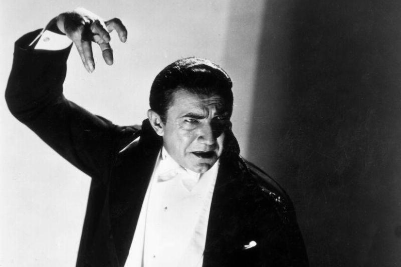 Bela Lugosi dressed as Dracula