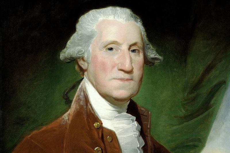 george washington color portrait
