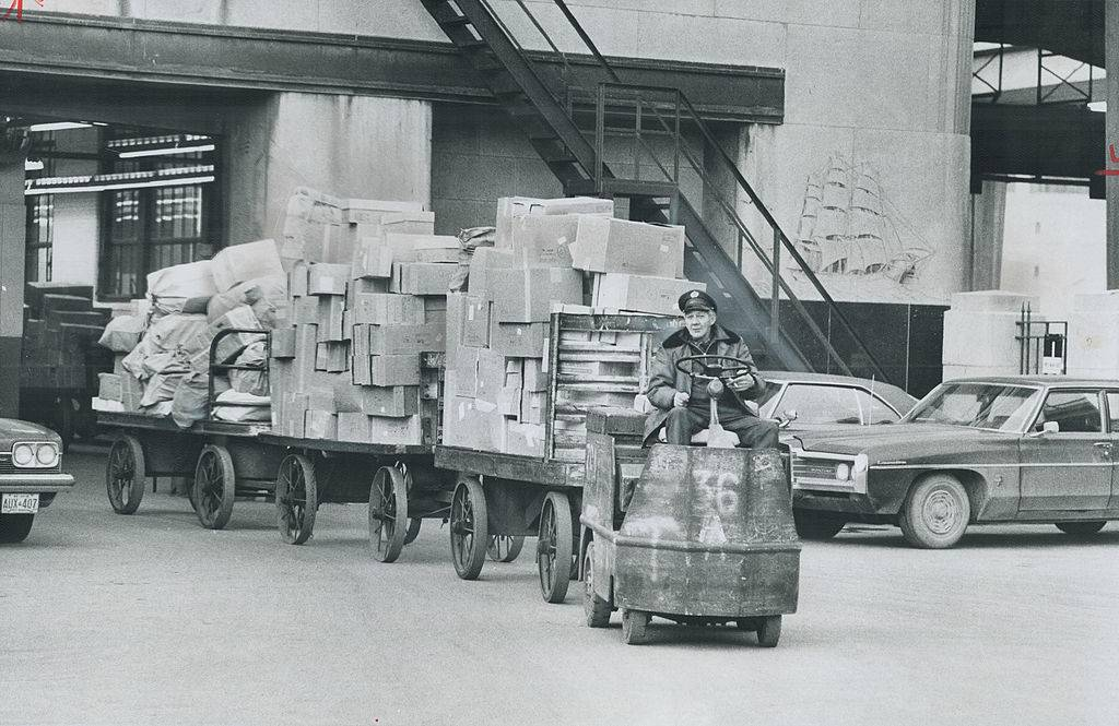 engineers a big load of sorted parcels