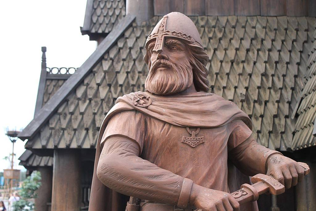 Statue of a viking