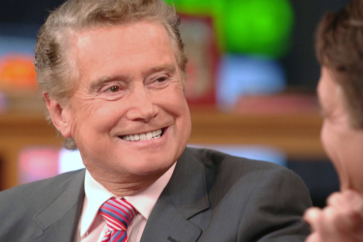 Regis Philbin speaks during the NFL's Hurricane Katrina Relief Telethon,