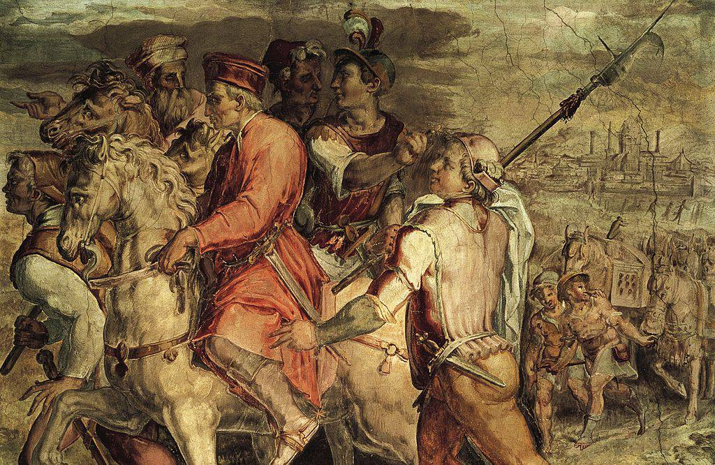 Painting of Medicis being exiled