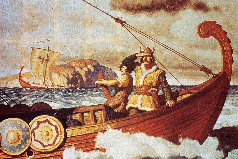 Vikings on a boat